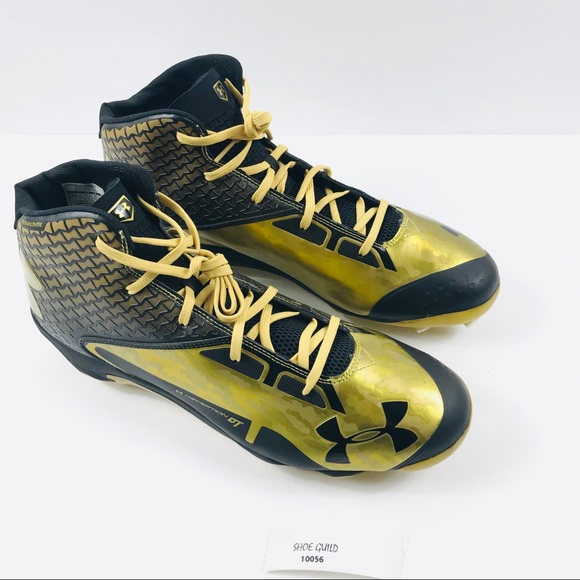 separation shoes 41706 9cb53 Under Armour Shoes | Ua Mid Dt Baseball Cleats Black Gold | Poshmark